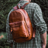 Brown Leather Morphett Backpack Bag