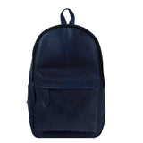 Navy Blue Leather Narunggar Backpack Bag