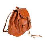 Brown Leather Playford Backpack Bag