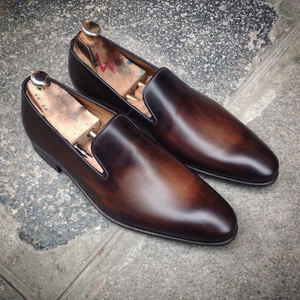 Brown Leather Huelva Loafers
