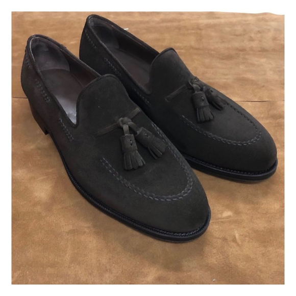 Black Leather Melilla Tassel Loafers