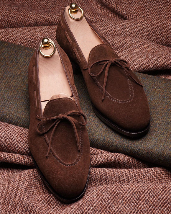 Brown Suede Carmona Loafers