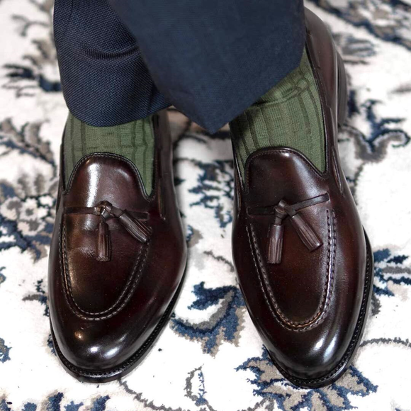 Brown Leather Sevilla Tassel Loafers