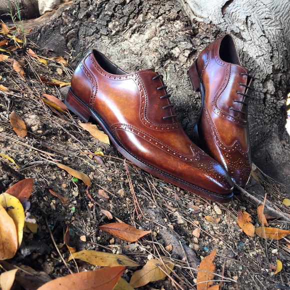 Brown Leather Guarda Brogue Oxfords