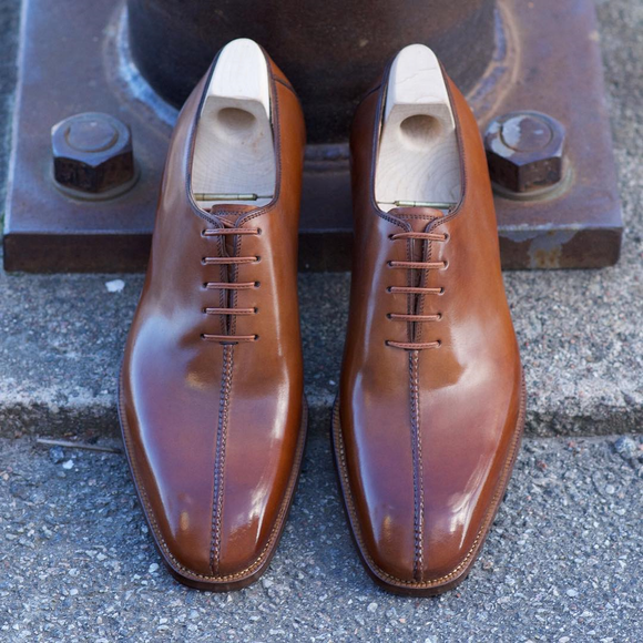 Tan Leather Madeira Toecap Oxfords