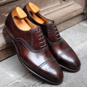 Brown Leather Alcacer Brogue Toecap Oxfords