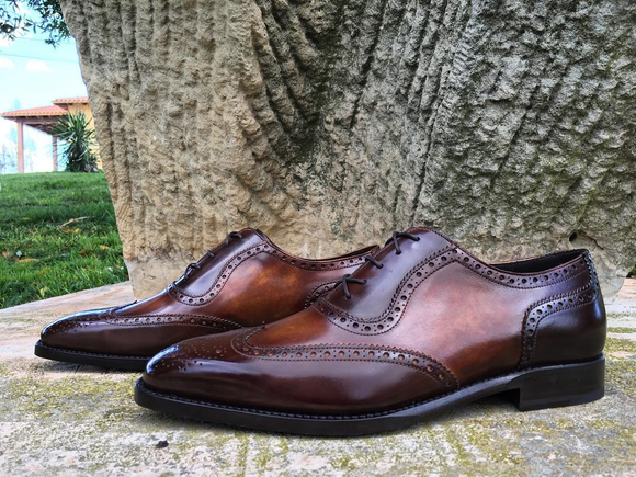 Brown Leather Montilla Brogue Oxfords