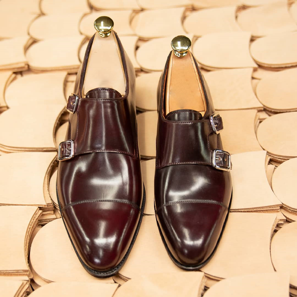 Brown Leather Braga Monk Straps
