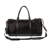 Black Leather Ramsay Duffel Bag
