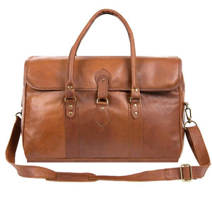 Brown Leather Taylor Duffel Bag