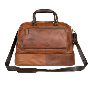 Brown Leather Unley Duffel Bag