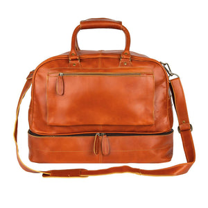 Brown Leather West Torrens Duffel Bag