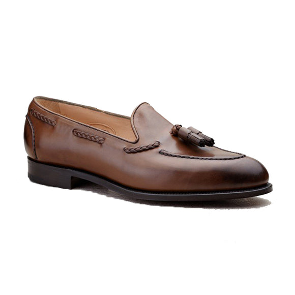 Brown Leather Swale Tassel Loafers