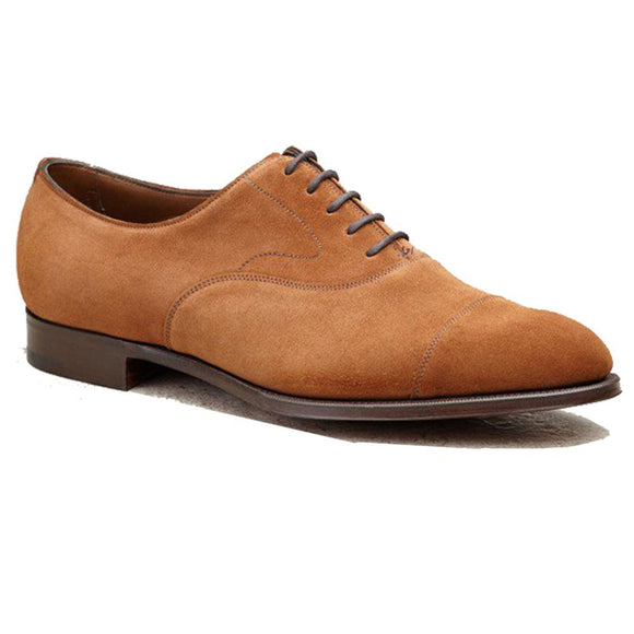 Flat Feet Shoes - Tan Suede Ruxley Oxfords with Arch Support