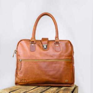 Brown Leather Flinders Messenger Bag