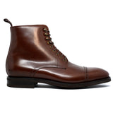 Height Increasing Brown Leather Caldecote Lace Up Boots