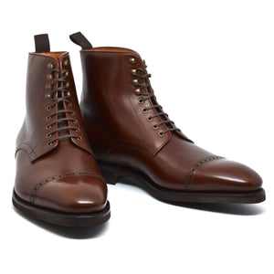 Brown Leather Caldecote Lace Up Boots
