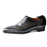Black Leather Cheshire Oxford Shoes
