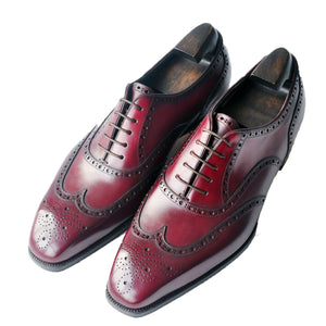 Burgundy Brown Leather Tynenode Oxford Shoes