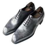 Black Leather Tycoon Oxford Shoes