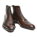 Flat Feet Shoes - Brown Leather Clifton Lace Up Boots with Arch Support