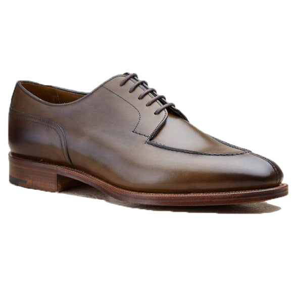 Olive Green Leather Hamlet Derby Shoes