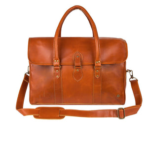Brown Leather Torrens Duffel Bag