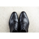 Black Leather Gedling Brogue Oxfords