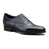 Height Increasing Black Leather Gedling Brogue Oxfords