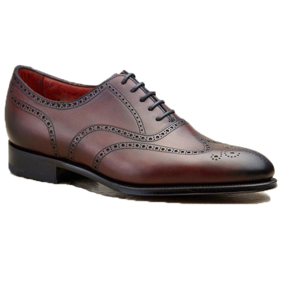 Height Increasing Mahogany Brown Leather Gedling Brogue Oxfords