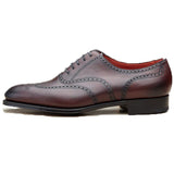 Mahogany Brown Leather Gedling Brogue Oxfords