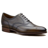 Height Increasing Olive Green Leather Wealden Oxfords