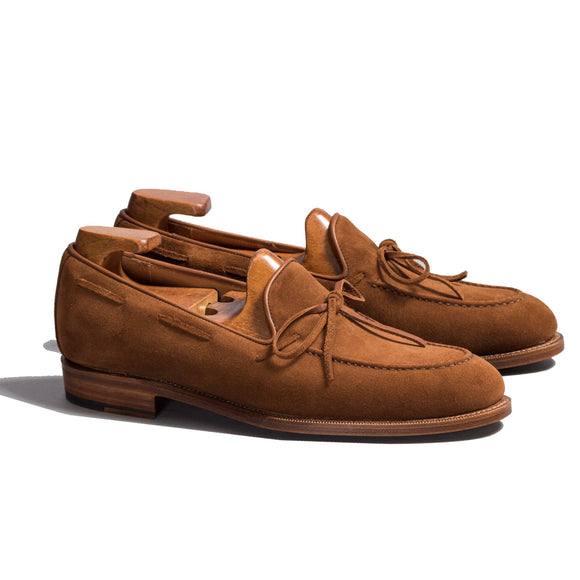Flat Feet Shoes - Tan Suede Yukon Driving Loafers with Arch Support