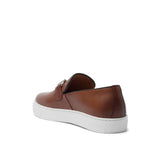 Tan Leather Alvin Horse Bit Sneakers