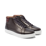 Brown Leather Angus Sneaker Boots