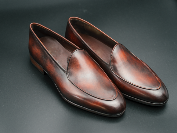Brown Leather Rivireso Loafers