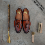 Brown Leather Barbican Tassel Loafers
