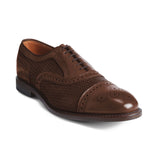 Brown Braided Leather Morice Brogue Oxfords