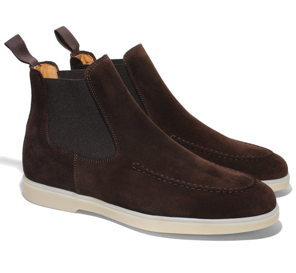 Brown Suede Pateros Chelsea Boots