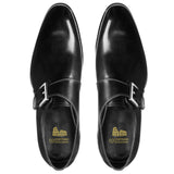 Height Increasing Black Leather Bromley Monk Straps