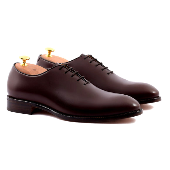 Brown Leather Drayton One Cut Oxfords