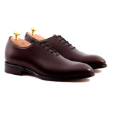 Height Increasing Brown Leather Drayton One Cut Oxfords