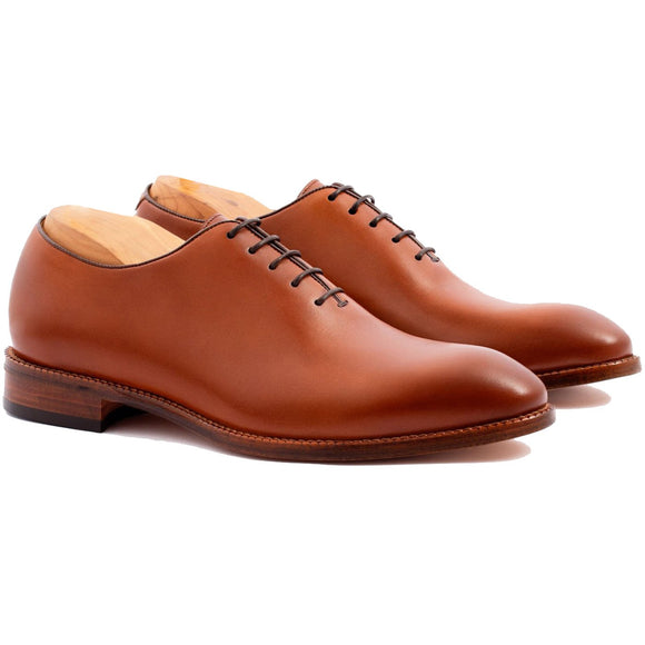 Flat Feet Shoes - Tan Leather Drayton One Cut Oxfords with Arch Support