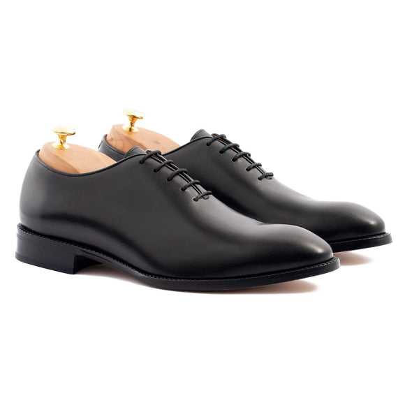 Flat Feet Shoes - Black Leather Drayton One Cut Oxfords with Arch Support