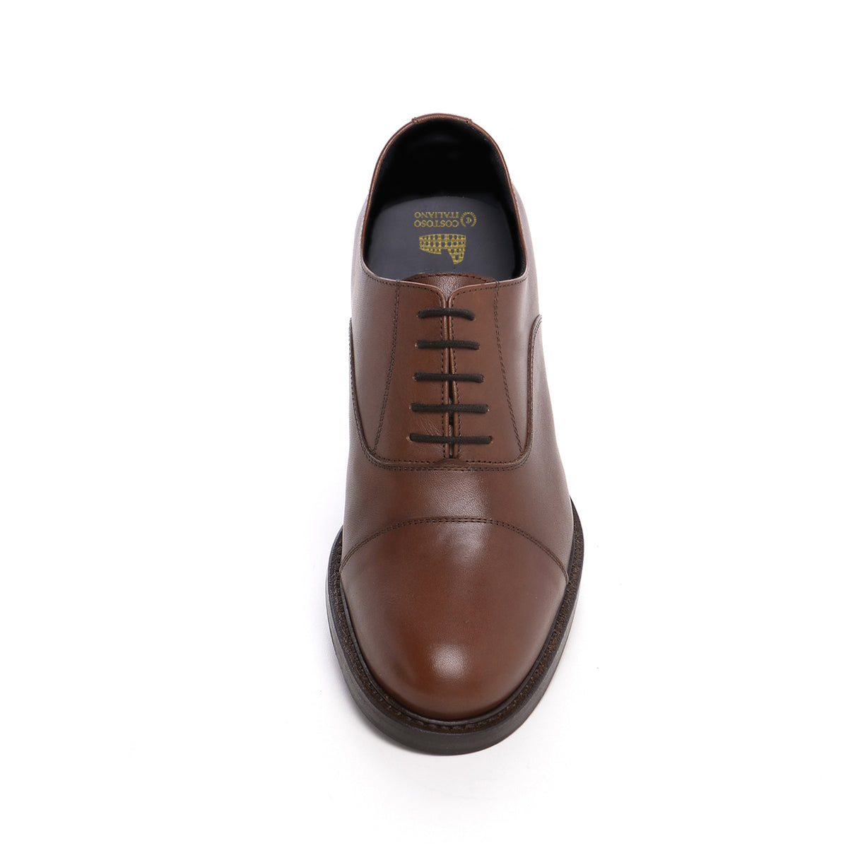 4dff7a9ec89 Height Increasing Brown Leather Holbrooks Oxfords – Costoso Italiano