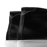 Height Increasing Black Leather Coleman Sneaker Boots