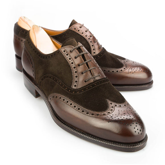 Brown Suede & Leather Romford Brogue Oxfords