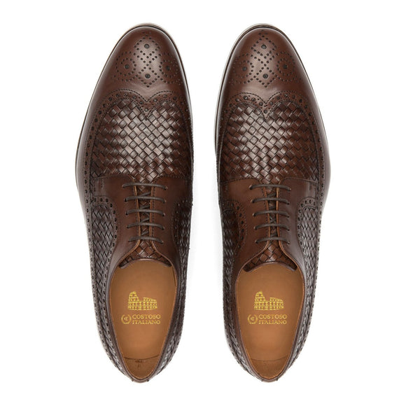 Brown Leather Norwood Brogue Derby Shoes