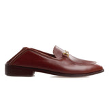 Flat Feet Shoes - Brown Leather Penela Horsebit Collapsible Loafer Slippers with Arch Support