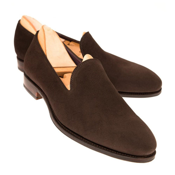 Flat Feet Shoes - Brown Suede Corby Loafers with Arch Support